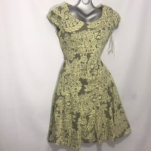 Shelby & Palmer fit n flare skater party midi NWT